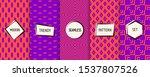 crazy vector geometric seamless ... | Shutterstock .eps vector #1537807526