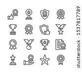 awards line icons. modern... | Shutterstock .eps vector #1537817789