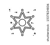 police star icon. simple line ...