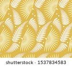 fern  palm leaves seamless...   Shutterstock .eps vector #1537834583