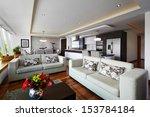 interior design  big modern... | Shutterstock . vector #153784184