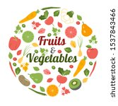 vegetables  fruits and nuts...   Shutterstock .eps vector #1537843466