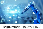 industrial technology concept.... | Shutterstock . vector #1537921163