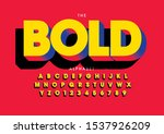 vector of stylized modern font... | Shutterstock .eps vector #1537926209