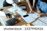 ux ui concept  team of website...