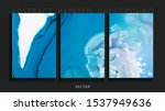 set of abstract painted...   Shutterstock .eps vector #1537949636