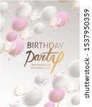 birthday party invitation cars... | Shutterstock .eps vector #1537950359