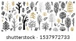 tree christmas tree bushes...   Shutterstock .eps vector #1537972733