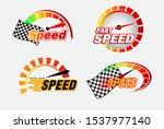 set of speed logo or... | Shutterstock .eps vector #1537977140