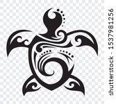 turtle tribal polynesian design ... | Shutterstock .eps vector #1537981256