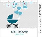 baby card | Shutterstock .eps vector #153799700