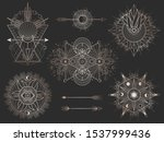 vector set of sacred geometric... | Shutterstock .eps vector #1537999436