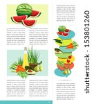 health brochure design. sample... | Shutterstock .eps vector #153801260