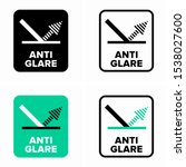 anti glare or anti reflective... | Shutterstock .eps vector #1538027600