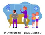 caucasian couple of man and... | Shutterstock .eps vector #1538028560