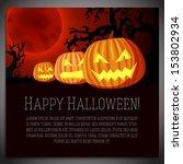 big halloween banner with... | Shutterstock .eps vector #153802934