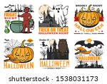 Halloween Pumpkin Vector Icons...