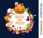 halloween trick or treat... | Shutterstock .eps vector #1538031266