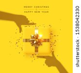 merry christmas and happy new... | Shutterstock .eps vector #1538042330