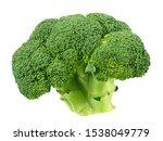 Green Broccoli Isolated On...