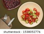 vegetarian salad with cucumbers ...