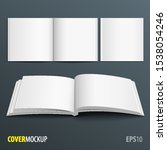 mockup open and closed magazine ... | Shutterstock .eps vector #1538054246