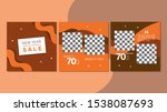 set of new year sale square... | Shutterstock .eps vector #1538087693