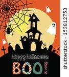 happy halloween card design....   Shutterstock .eps vector #153812753