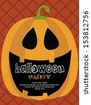 happy halloween card design.... | Shutterstock .eps vector #153812756