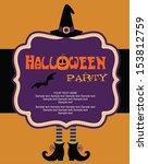 happy halloween card design.... | Shutterstock .eps vector #153812759