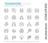 collection of teamwork related...   Shutterstock .eps vector #1538139350