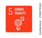 gender equality color icon....