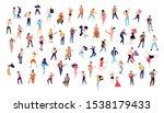 dancing crowd people flat... | Shutterstock .eps vector #1538179433