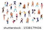 dancing crowd people flat... | Shutterstock .eps vector #1538179436