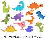 set of dinosaur. collection of... | Shutterstock .eps vector #1538179976