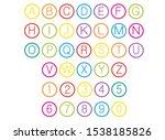 alphabet for children. kids... | Shutterstock .eps vector #1538185826