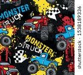 abstract seamless monster car... | Shutterstock .eps vector #1538189336