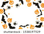 flat lay halloween composition... | Shutterstock . vector #1538197529