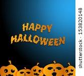 happy halloween poster | Shutterstock .eps vector #153820148