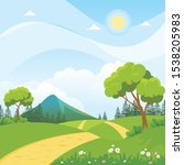 beautiful landscape vector...   Shutterstock .eps vector #1538205983