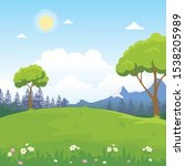 beautiful landscape vector... | Shutterstock .eps vector #1538205989