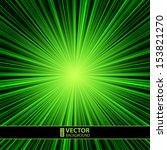Abstract Green Striped Burst...
