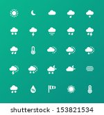 weather icons on green...