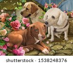 Illustration Painting Group Of...