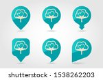 cotton flat vector pin map icon....