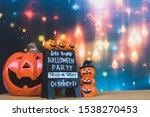 halloween holiday concept with ... | Shutterstock . vector #1538270453