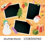 christmas scrapbook with photo... | Shutterstock .eps vector #1538306960