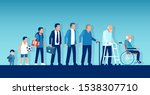 different generations and life... | Shutterstock .eps vector #1538307710