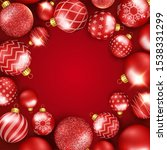 christmas background with... | Shutterstock .eps vector #1538331299