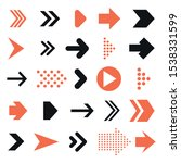 arrow pictogram set. simple... | Shutterstock .eps vector #1538331599